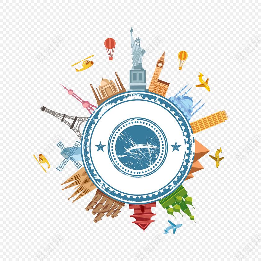 欧洲旅行海报创意卡通插画图片素材免费下载_觅知网