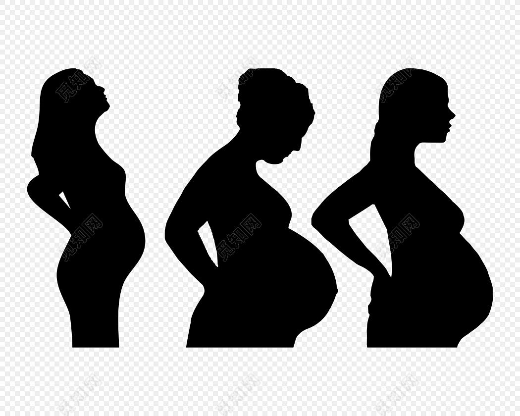 孕妇剪影素材
