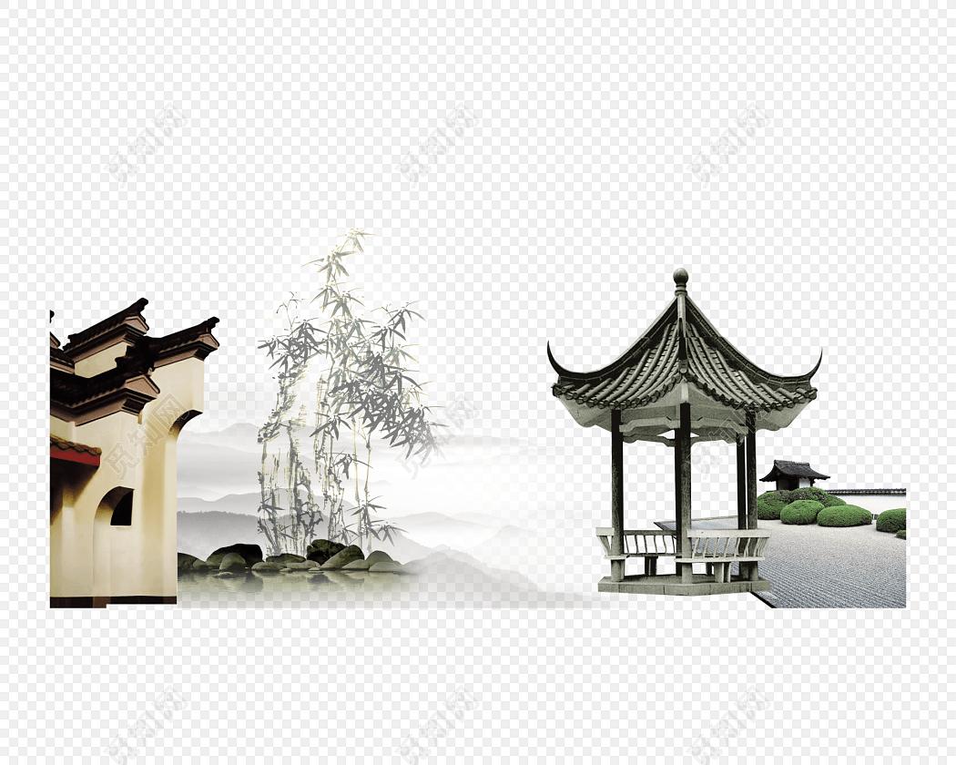 水墨江南水乡徽派建筑古建筑