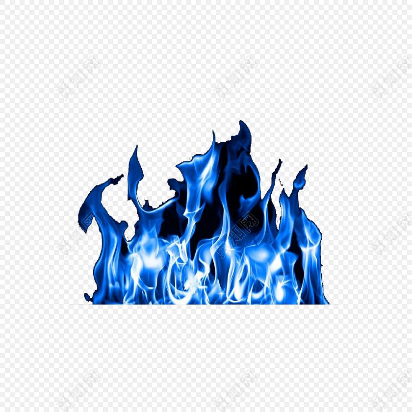 冰冻的蓝色火焰素材免费下载_png素材_觅知网