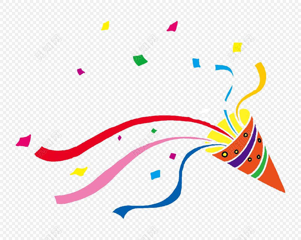 免费下载png png素材活动烟花彩带促销素材标签:烟花 免抠素材 喇叭