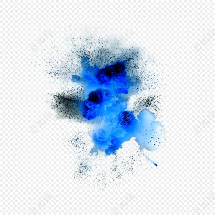 蓝色梦幻烟雾粉末矢量素材
