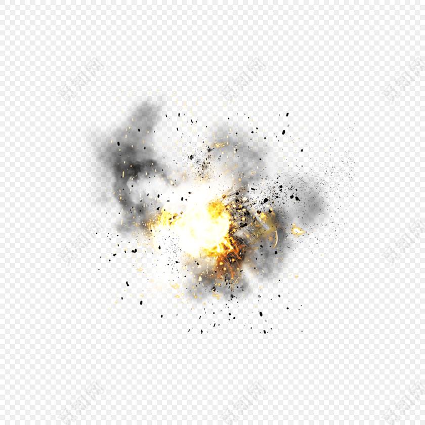 爆炸火焰碎屑烟雾矢量素材