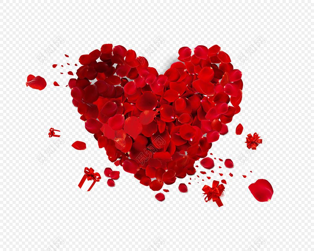 教师节爱心素材玫瑰花瓣