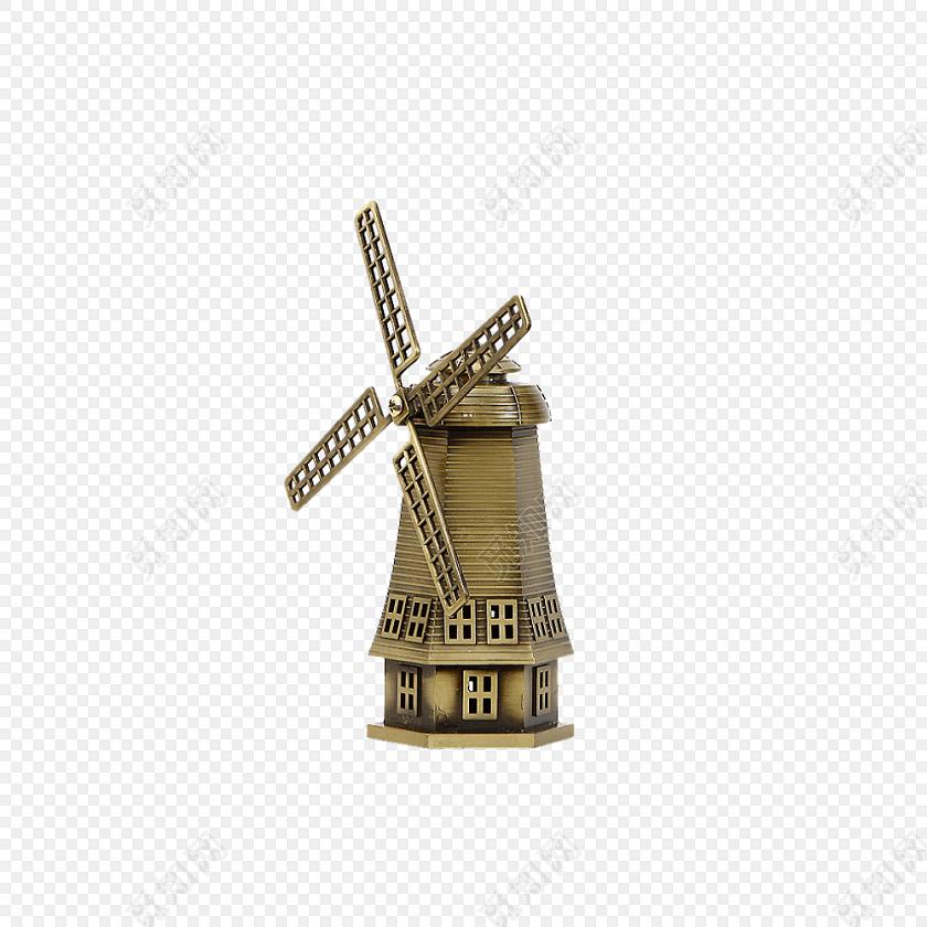 风能利用风车磨坊素材