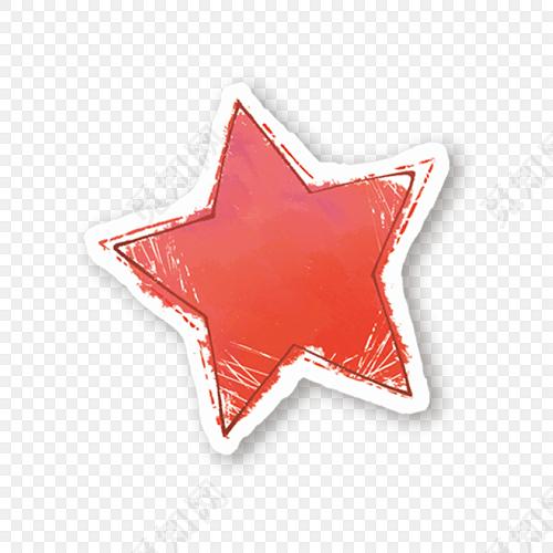 手绘星星五角星素材