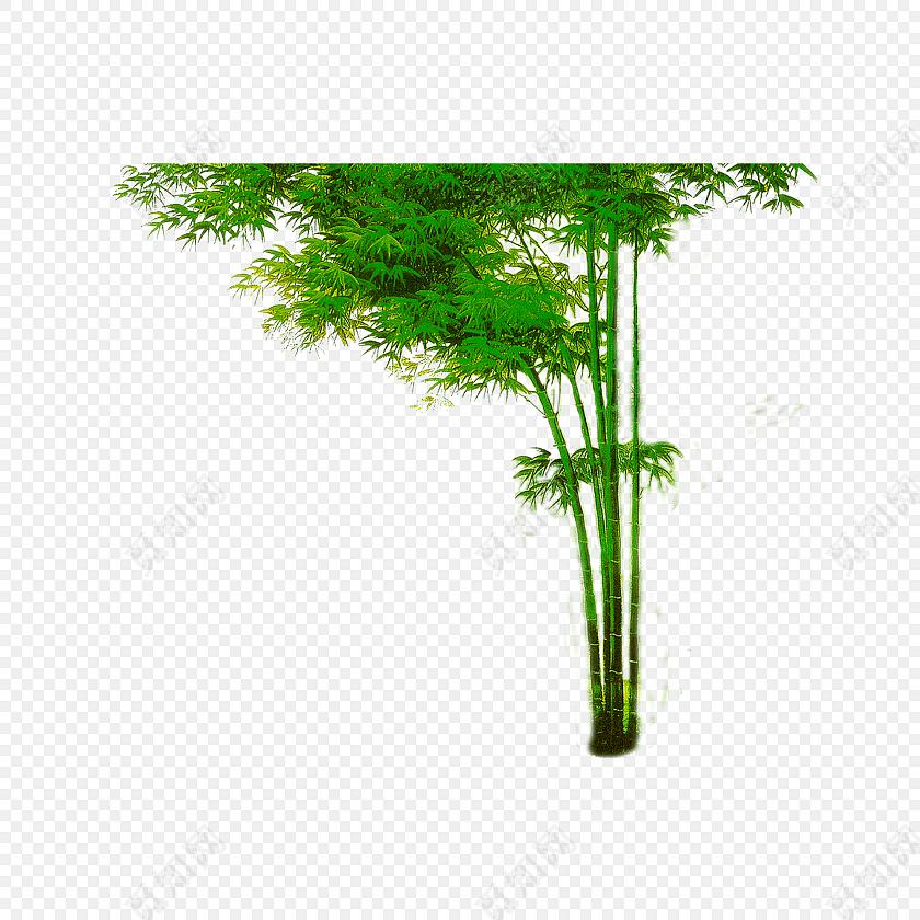 绿色简约小清新竹子免抠素材