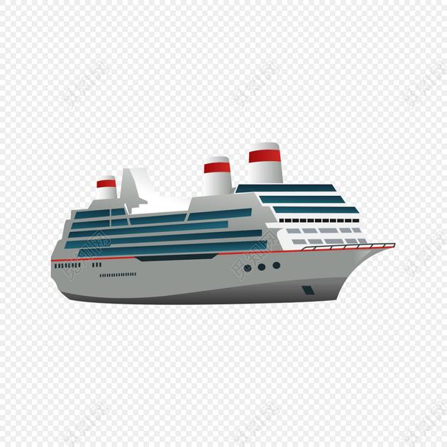 卡通轮船矢量素材