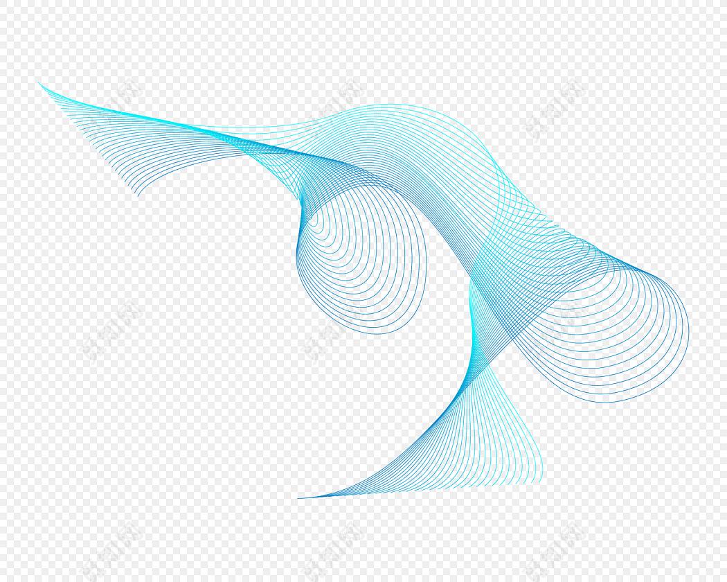 炫彩动感线条波纹底纹彩带飘带素材