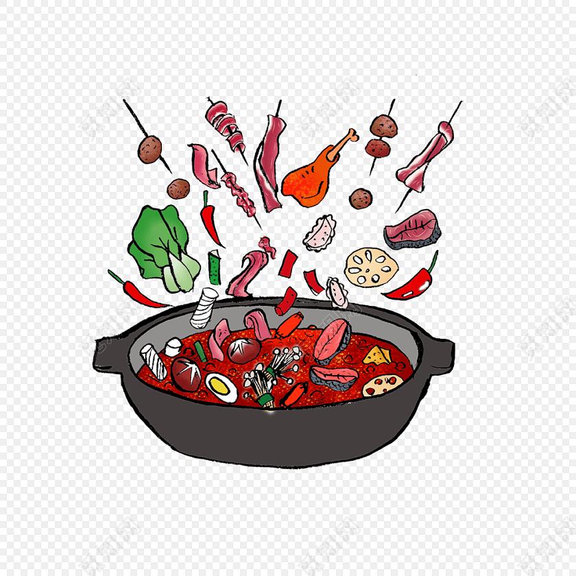 卡通美食火锅素材图片