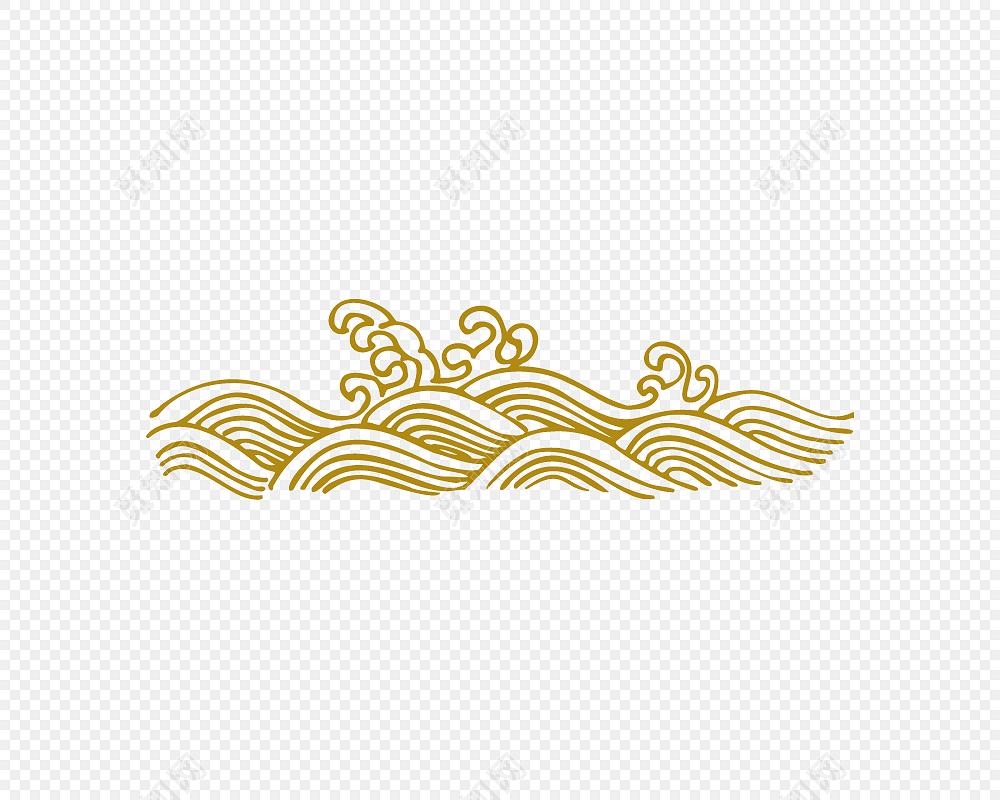 png素材波浪祥云花纹纹理标签:花纹边框 免抠素材 中国风 纹理 古风