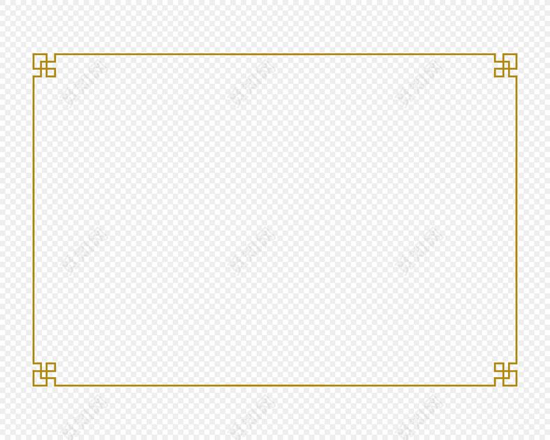 古典中式边框中国风长方形花纹边框图片素材免费下载