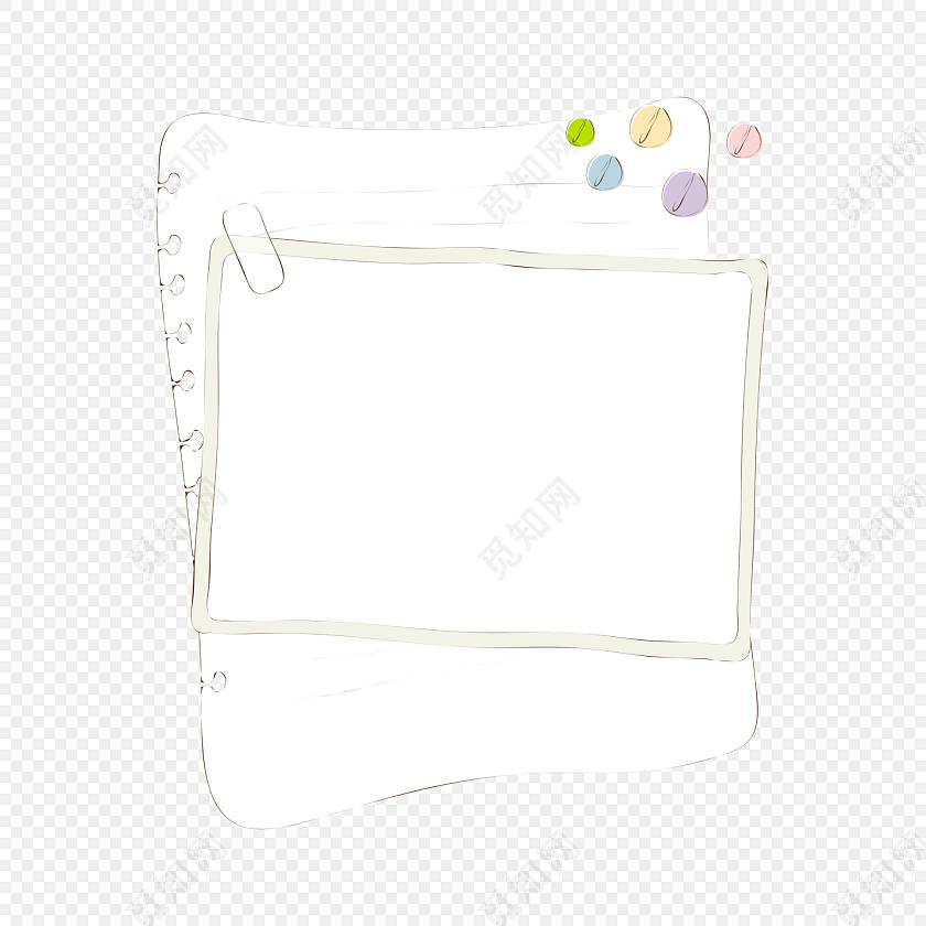 卡通边框 卡通黑板 卡通气泡 卡通信纸 花纹边框 回形针