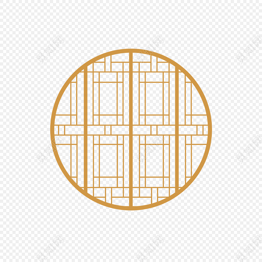 古代门窗 圆窗户 雕花窗户标签:免抠素材 古风 中国风 花纹边框 中国