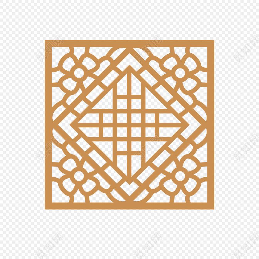 免抠素材 古风 中国风 花纹边框 中国建筑