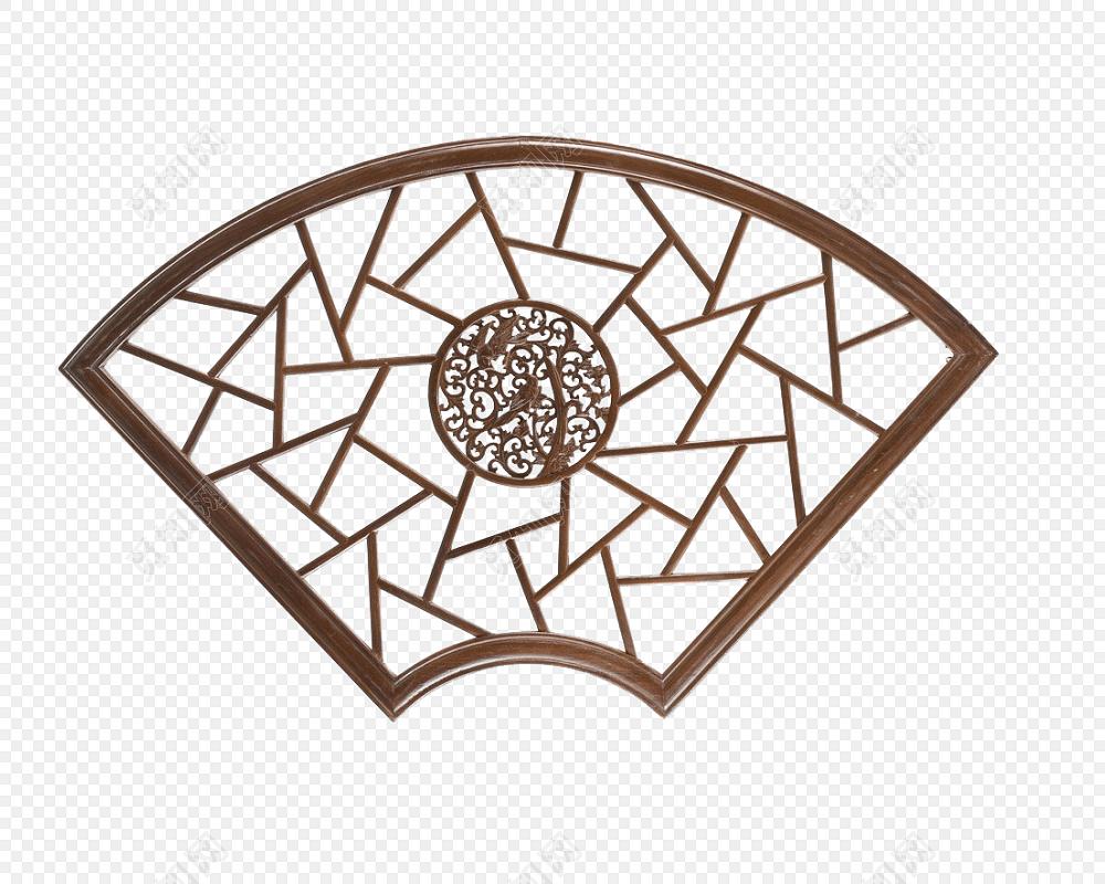 古代门 雕花门窗 复古门框 扇形窗图片素材免费下载