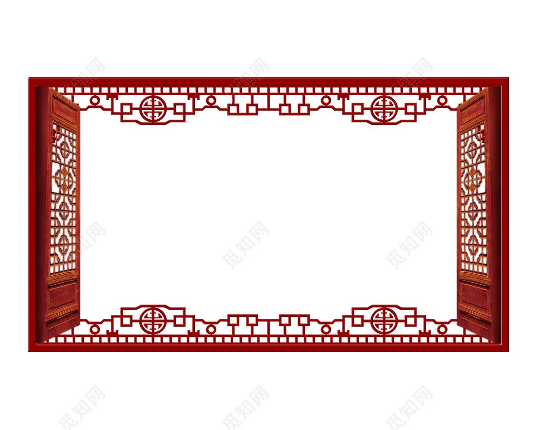 中式古典花纹图片_中式古典边框古代古典复古雕花门窗边框中式素材免费下载_觅知网