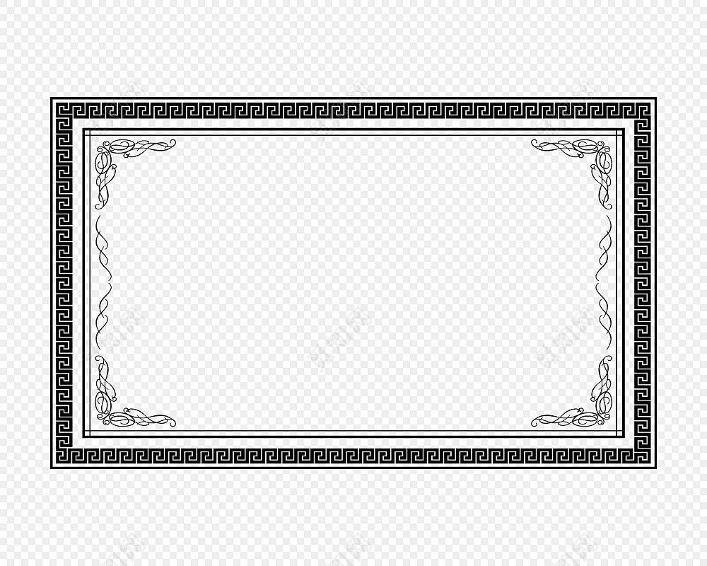边框  装饰  相框装饰 奖状装饰标签:花纹边框 免抠素材 古风 中国风