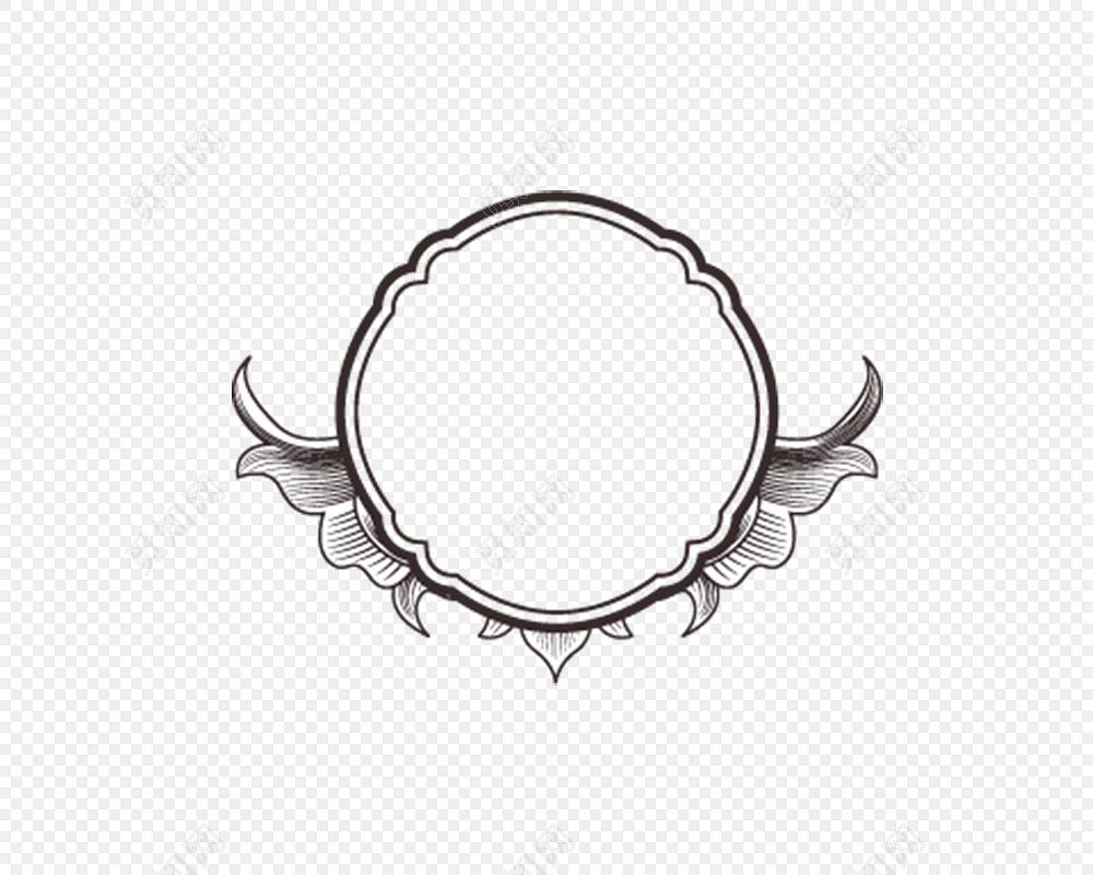 花边 边框 装饰 徽章装饰 圆形装饰