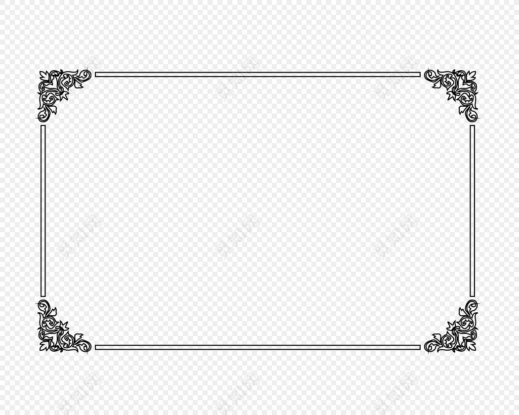 花边 边框 装饰 装饰 奖状装饰 矢量素材
