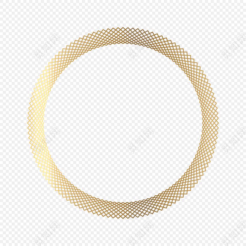 png素材黄色圆环 古风圆形框png   网纹圆  古风套图标签:花纹边框 免