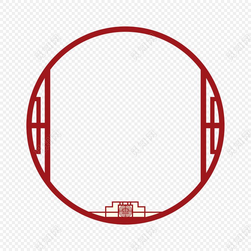 红色 古典标签:边框 免抠素材 中国风 古风 古代门窗