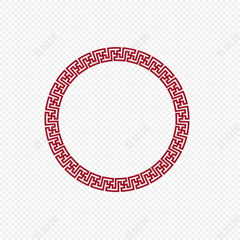 回纹圆  古风套图 矢量素材标签: 花纹边框 免抠素材 瓷盘 新年回形