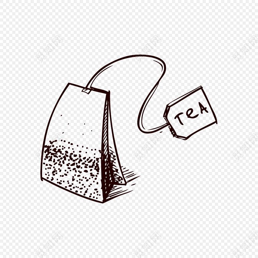 手绘卡通包装袋素材
