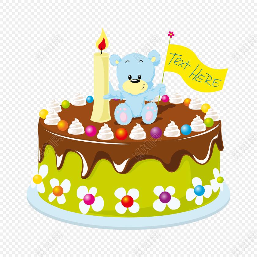 卡通蛋糕生日素材