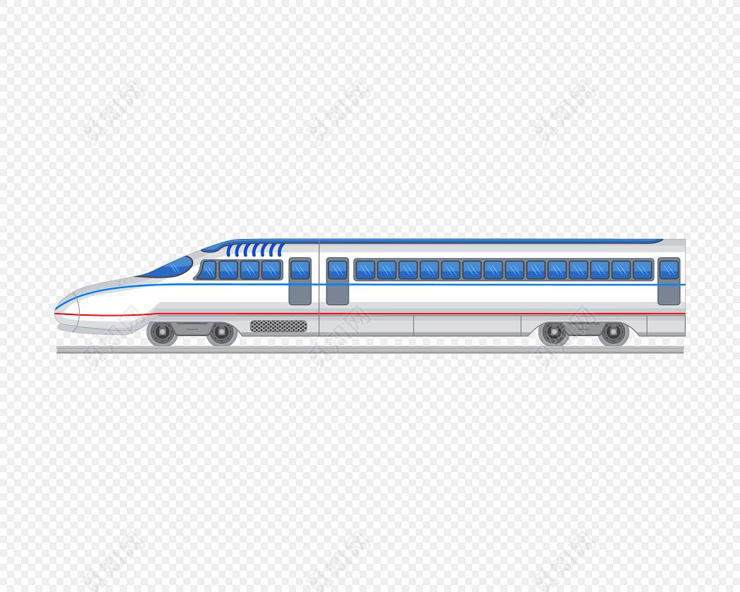 矢量卡通火车列车动车