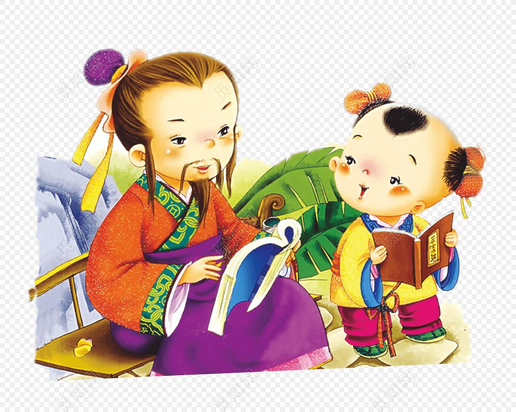 教师节卡通古风师生教学元素png免费下载_png素材_觅