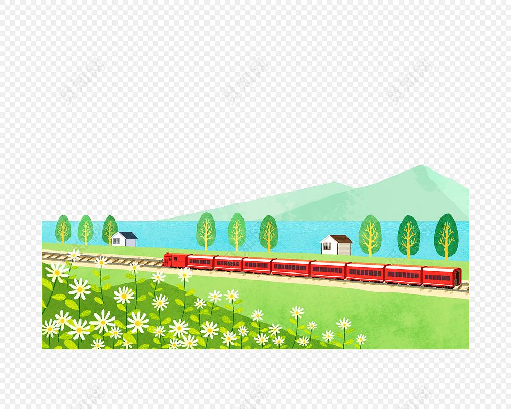 矢量卡通火车列车动车免费下载_png素材_觅知网