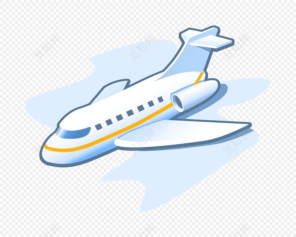 卡通飞机矢量图素材