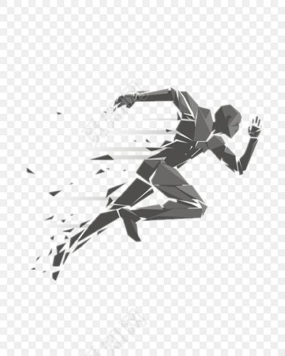 奔跑人物剪影矢量素材免费下载_png素材_觅知网