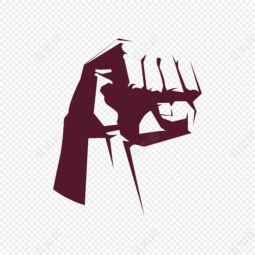 卡通手绘拳头素材图片
