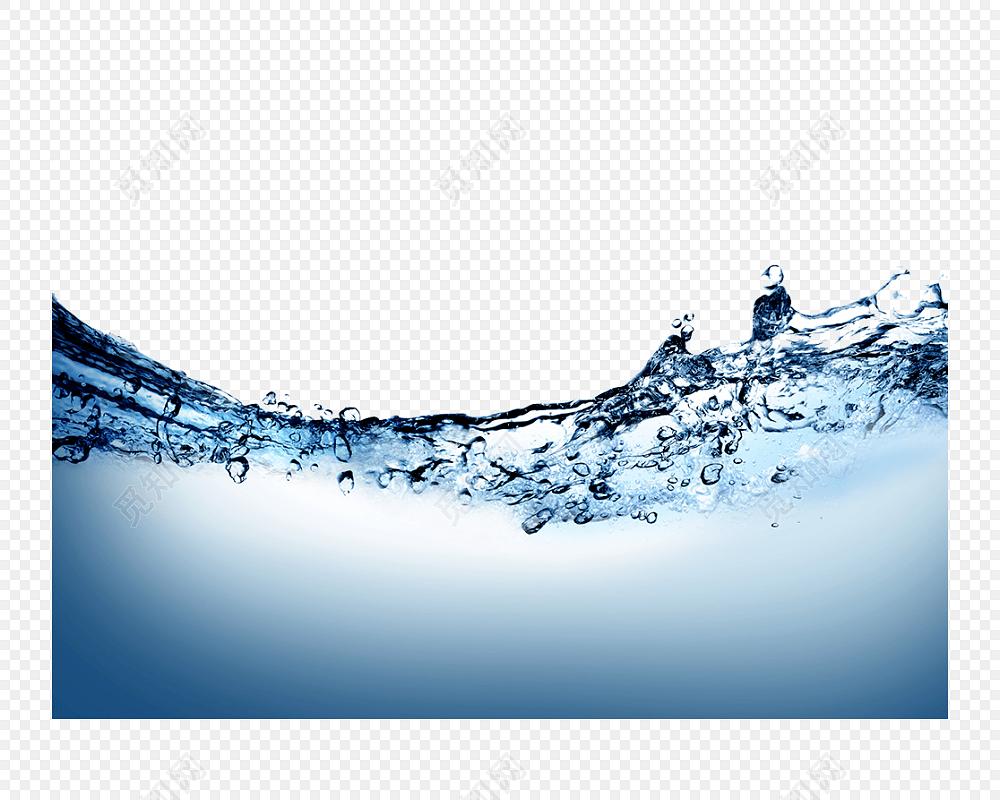 高清冰水海水波浪波纹矢量元素
