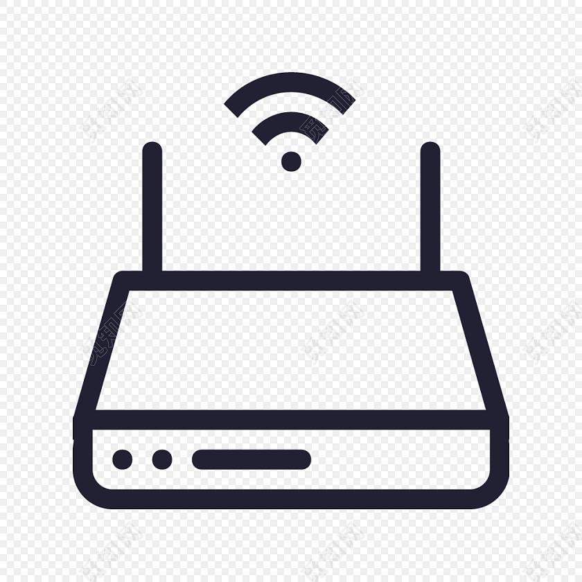 无线wifi符号路由器图标矢量素材