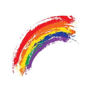 矢量彩色彩虹
