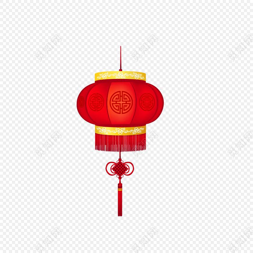 红色春节新年喜庆素材灯笼