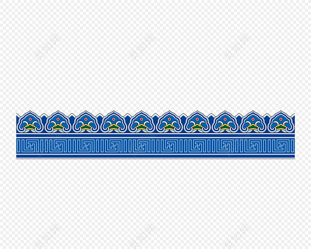 中国风祥云边框藏式蒙古花纹