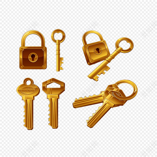 金钥匙开锁素材