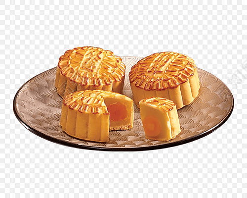中秋月饼盘子矢量