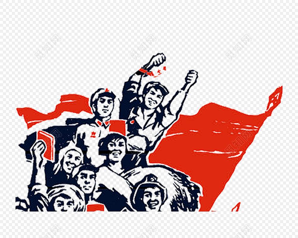 劳动人民手绘插画海报素材