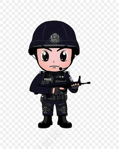 持枪特警小人图免费下载_png素材_觅知网