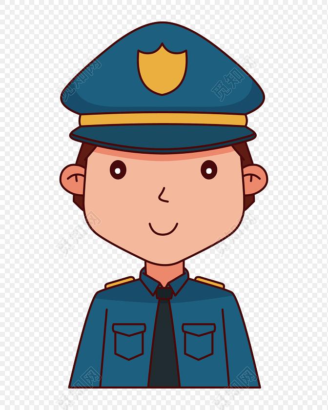 手绘小警察卡通形象图片