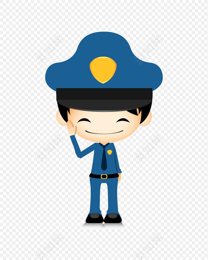 卡通警察人物设计图片