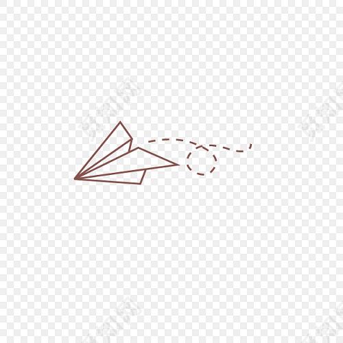 简笔画纸飞机图片素材免费下载 觅知网
