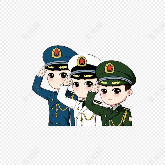创意卡通军人形象素材矢量图片