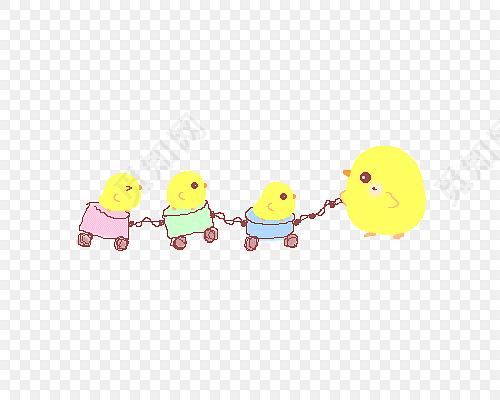 卡通小鸡分割线免费下载_png素材_觅知网