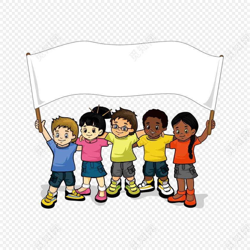 六一儿童节卡通小学生素材
